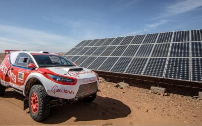 The electric car in Dakar 2017