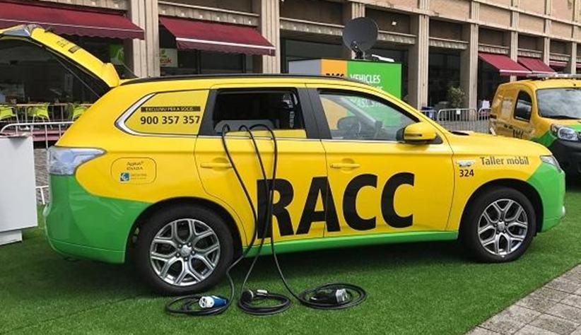 Tecnología de Circontrol en el coche taller de RACC para la asistencia de vehículos eléctricos