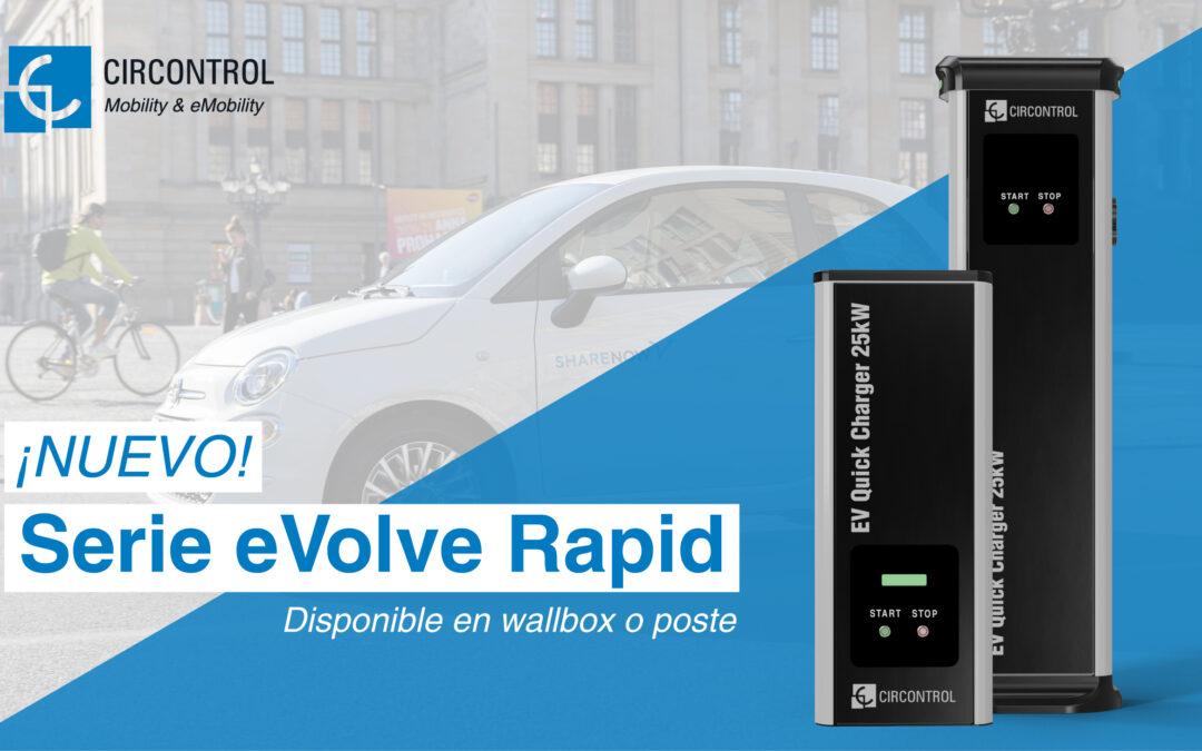 Nueva eVolve Rapid: una gama de cargadores de 25 kW que permite la carga rápida sin necesidad de alta potencia